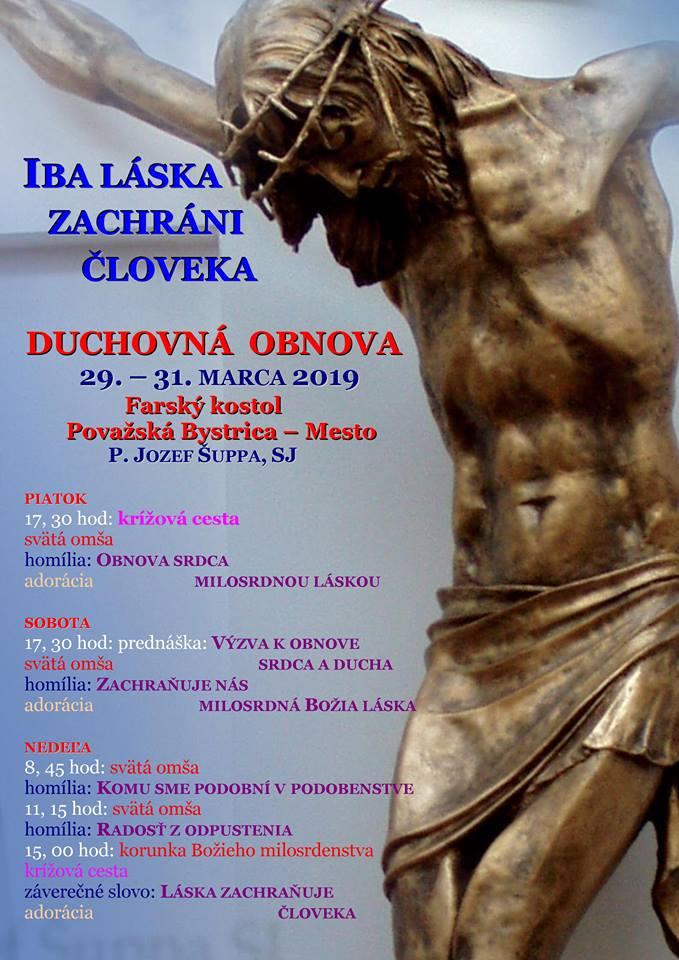 """e5167f47b6 Duchovná obnova """"Iba láska zachráni človeka"""" v Považskej Bystrici ..."""